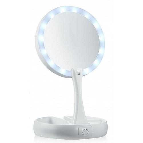 Зеркало косметическое для макияжа с подсветкой светодиодами и увеличением ЗМ-КР