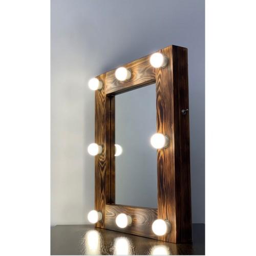 Гримерное зеркало для макияжа с лампочками 60х50